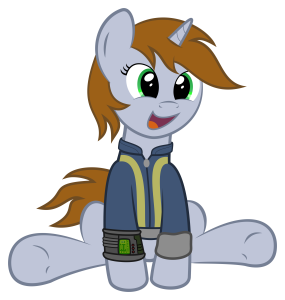 Littlepip being Adorable by Commander Sparkle