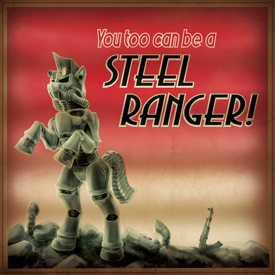 Steel Ranger Recruitment - Backlight Lightbox Variant